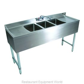 John Boos EUB2S36SL-1LD Underbar Sink Units