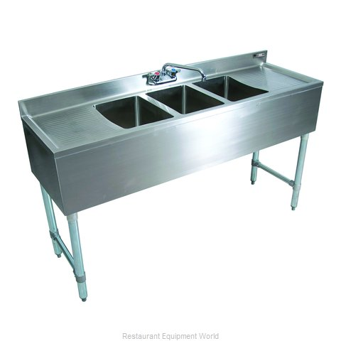 John Boos EUB2S48-1RD Underbar Sink Units (Magnified)