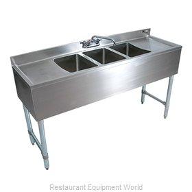 John Boos EUB2S48SL-1LD Underbar Sink Units