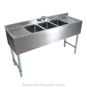 John Boos EUB2S48SL-1RD Underbar Sink Units