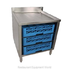 John Boos EUBGRS-24-3-X Underbar Glass Rack Storage Unit