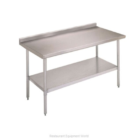 John Boos FBLGR5-7224 Work Table 72 Long Stainless Steel Top (Magnified)