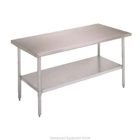 John Boos FBLS2424 Work Table 24 Long Stainless Steel Top (Magnified)