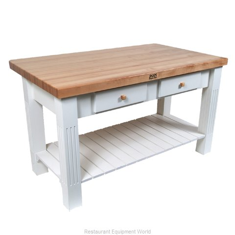 John Boos GRZ6036 Work Table, Wood Top