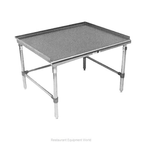 John Boos GS6-2460SBK Equipment Stand for Countertop Cooking