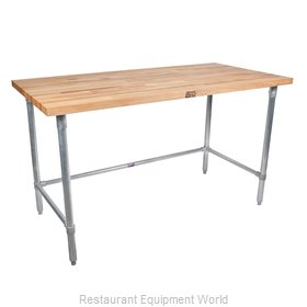 John Boos HNB10 Work Table, Wood Top