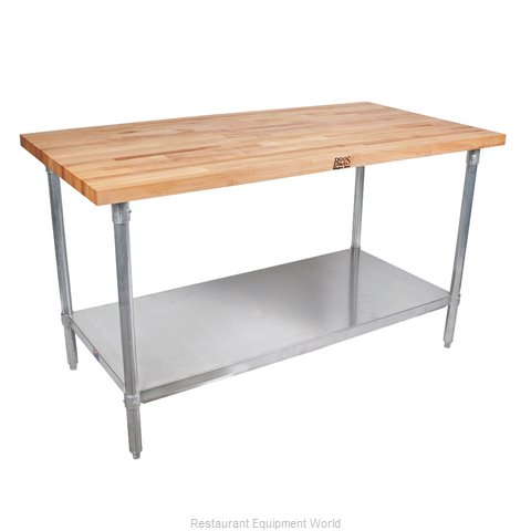 John Boos HNS13 Work Table, Wood Top
