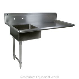 John Boos JDTS-20-50UCL-X Dishtable, Soiled, Undercounter Type