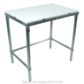 John Boos M013A Work Table, Poly Top