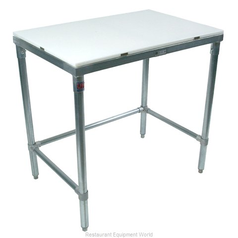 John Boos M019 Work Table, Poly Top (Magnified)