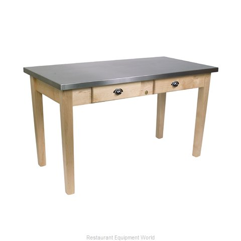 John Boos MIL4824C Thick Top Butcher Block Table