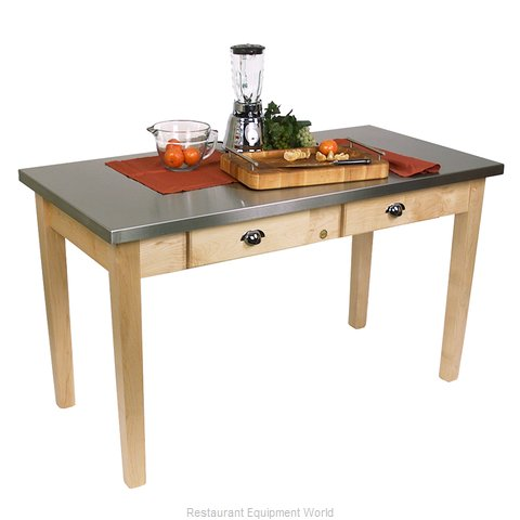John Boos MIL4824D Thick Top Butcher Block Table (Magnified)