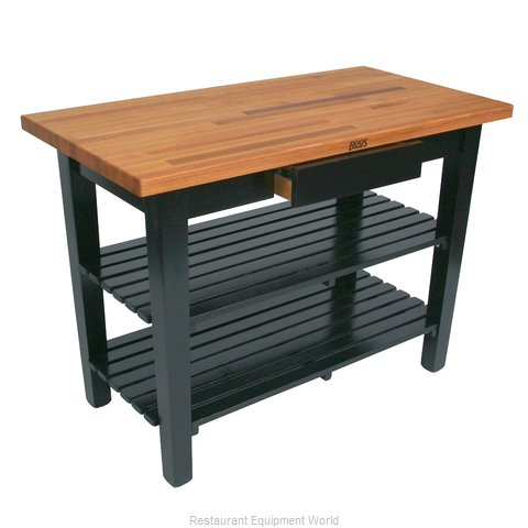 John Boos OC4825-S Work Table, Wood Top (Magnified)
