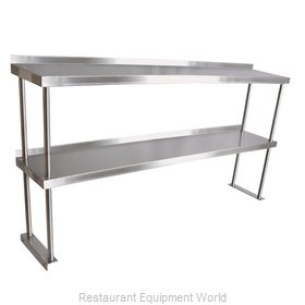 John Boos OS12 Overshelf, Table-Mounted