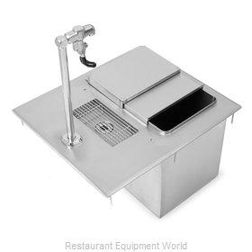 John Boos PB-DIIBWS1821-P-X Ice & Water Unit, Drop-In