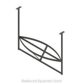 John Boos PRB01A-C Pot Rack, Ceiling Hung