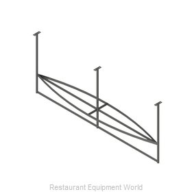 John Boos PRB03A-C Pot Rack, Ceiling Hung