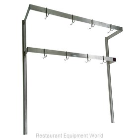 John Boos PRD2 Pot Rack Table Mounted