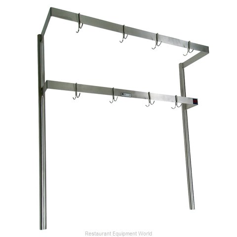 John Boos PRD5 Pot Rack Table Mounted
