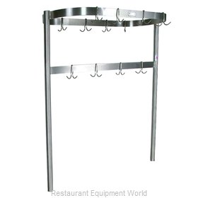 John Boos PRTC2 Pot Rack, Table-Mounted