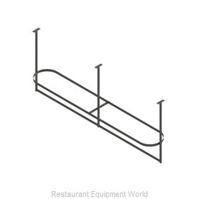 John Boos PRTC4-C Pot Rack, Ceiling Hung
