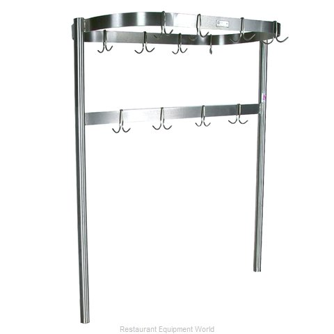 John Boos PRTC4 Pot Rack, Table-Mounted