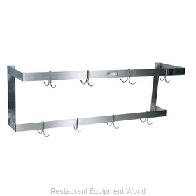 John Boos PRW21 Pot Rack, Wall-Mounted