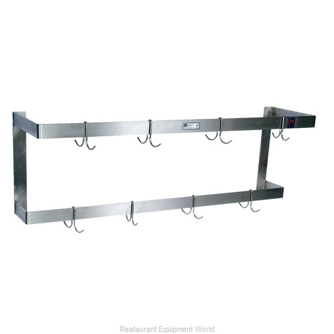 John Boos PRW22 Pot Rack, Wall-Mounted
