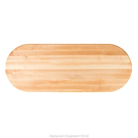 John Boos RTM-3648-OVL Table Top, Wood (Magnified)