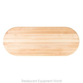 John Boos RTSM-3648-OVL Butcher Block Top