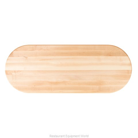 John Boos RTSM-4260-OVL Table Top, Wood (Magnified)