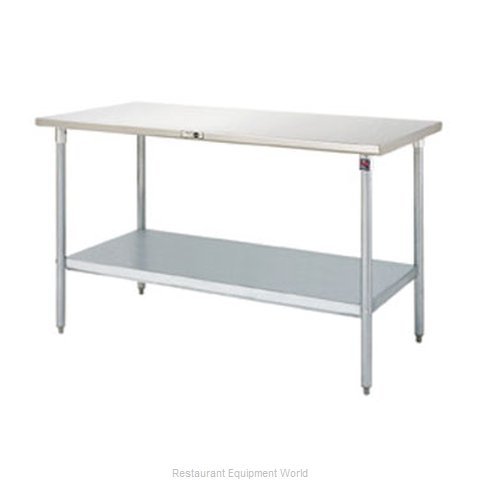 John Boos S14014 Work Table 60 Long Stainless Steel Top