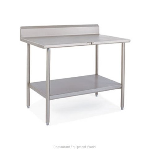 John Boos S14025 Work Table 48 Long Stainless Steel Top