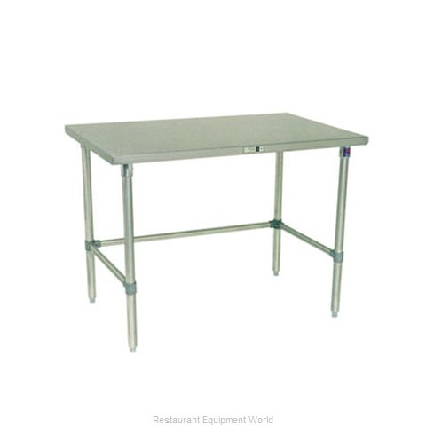 John Boos S14036 Work Table 48 Long Stainless Steel Top