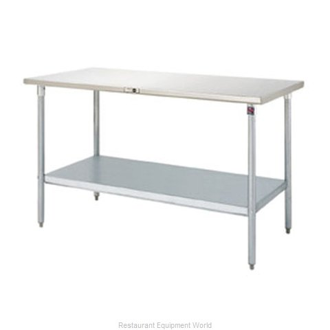 John Boos S14076 Work Table 48 Long Stainless Steel Top