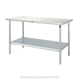 John Boos S14077 Work Table 60 Long Stainless Steel Top