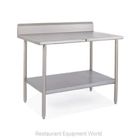 John Boos S14099 Work Table 60 Long Stainless Steel Top