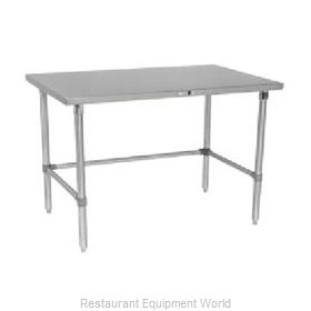 John Boos S14108 Work Table 120 Long Stainless Steel Top