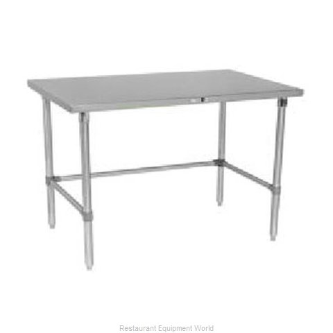 John Boos S14119 Work Table 120 Long Stainless Steel Top