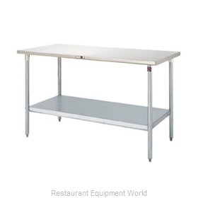 John Boos S16004 Work Table 72 Long Stainless Steel Top