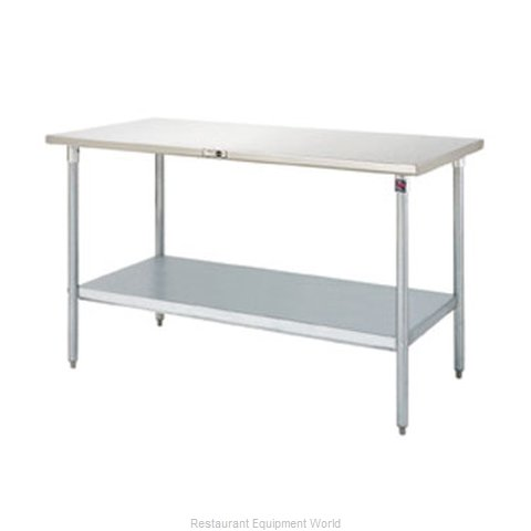 John Boos S16008 Work Table 48 Long Stainless Steel Top