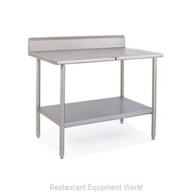 John Boos S16025 Work Table 48 Long Stainless Steel Top