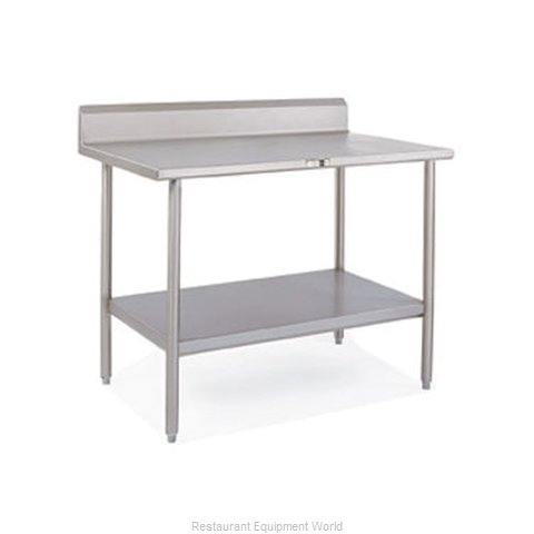 John Boos S16034 Work Table 120 Long Stainless Steel Top (Magnified)