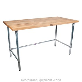 John Boos SNB07 Work Table, Wood Top