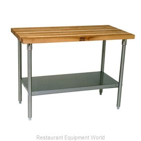 John Boos SNS10 Work Table, Wood Top