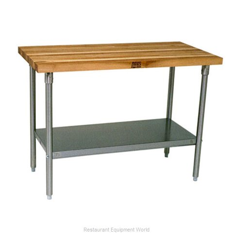 John Boos SNS10A Work Table, Wood Top