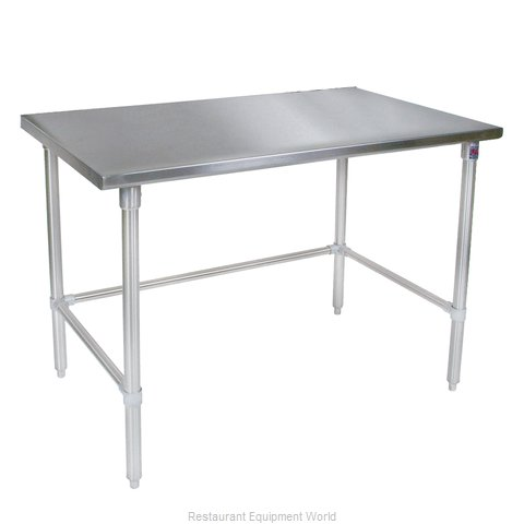 John Boos ST4-2448GBK Work Table 48 Long Stainless Steel Top (Magnified)
