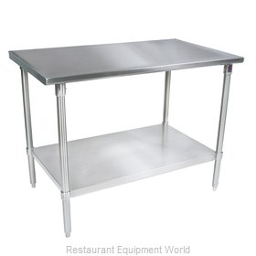 John Boos ST4-2460SSK Work Table 60 Long Stainless Steel Top