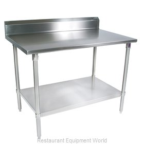 John Boos ST4R5-2448GSK Work Table 48 Long Stainless Steel Top