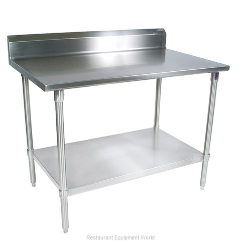 John Boos ST4R5-2472SSK Work Table 72 Long Stainless Steel Top